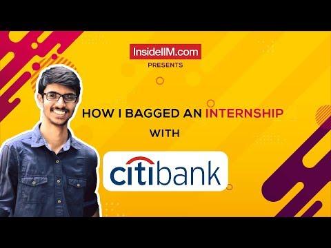 How I Prepared And Cracked The Citibank Internship Interview - Jay Baviskar, IIM Kozhikode