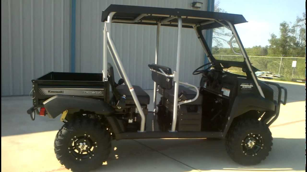 Kawasaki Mule Trans Super Black With Lift Kit