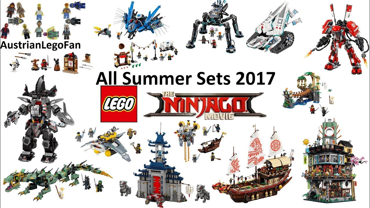 All Lego Ninjago Movie Summer Sets 2017 Compilation Lego Speed Build Review Youtube