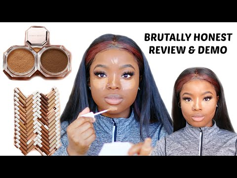 FULL FACE USING FENTY BEAUTY INSTANT RETOUCH CONCEALERS & SETTING POWDER HONEST REVIEW || I鈥橫 SHOOK