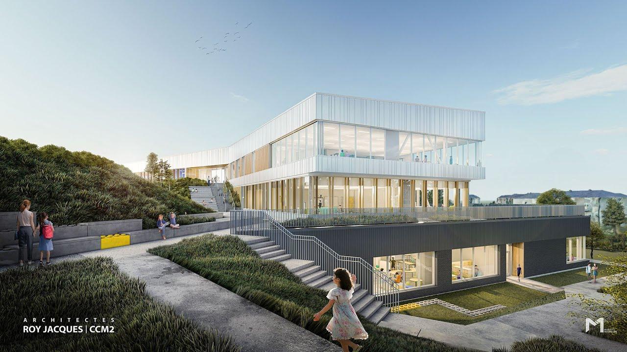 Nouvelle école à Scott : une «vitrine» pour la province [VIDÉO]
