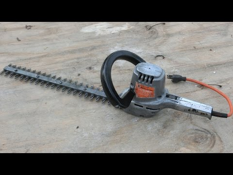 1960s Black & Decker Hedge Trimmer: Antique Tool Restoration / Repair