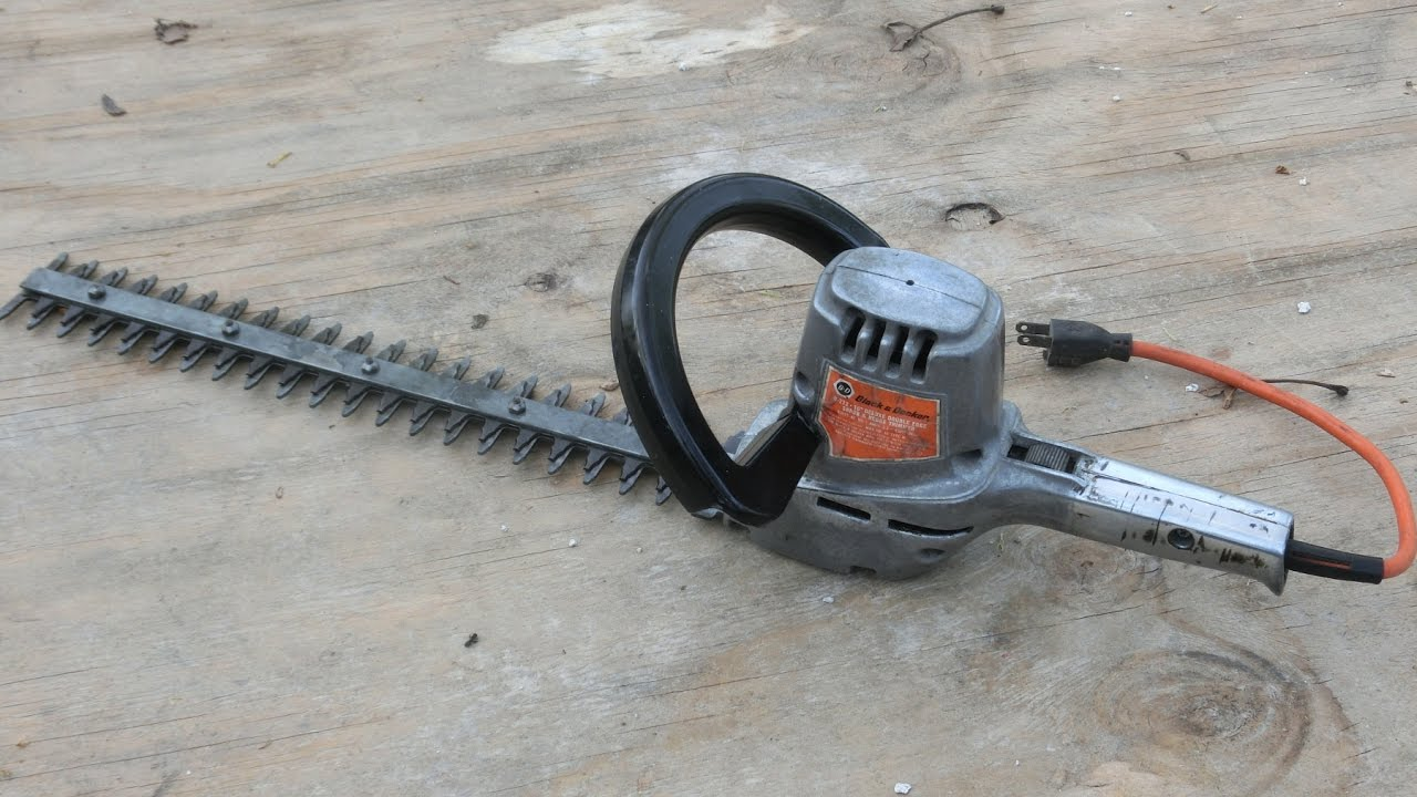 1960s Black Amp Decker Hedge Trimmer Antique Tool