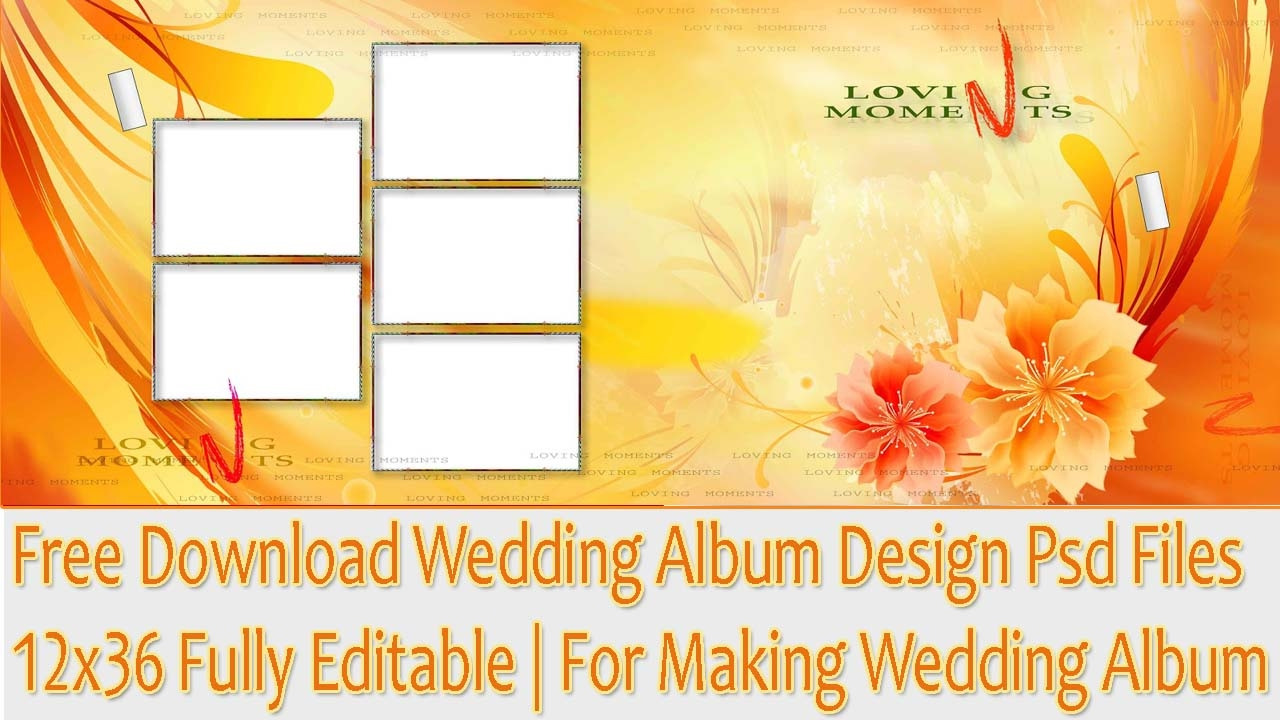 Free Download Wedding Album Design Psd Files 12x36 Fully Editable ...