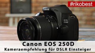 Canon EOS 250D eine der besten Spiegelreflex Einsteiger Kameras für Fotografie Anfänger 2020/2021