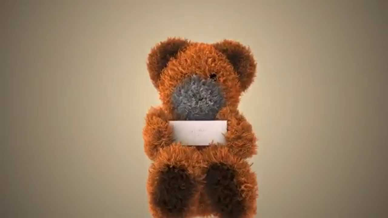 Cute Dancing Teddy Bear Wishes Happy Birthday Ecard