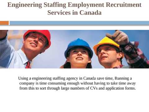Engineering Staffing Employment Recruitment Agencies services in Canada