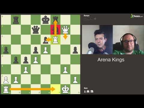 Partie d'échecs contre Aman Hambleton dans l'Arena Kings