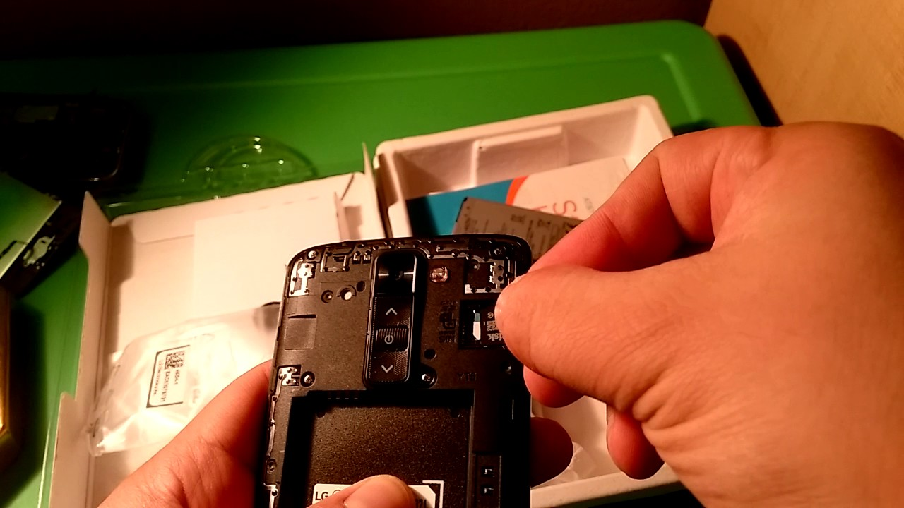Inserting Micro SD into a at&t LG Phoenix 2