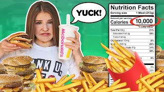 Letting The Person in FRONT of me DECIDE What I Eat for 24 HOURS Challenge! 🍔| Piper Rockelle