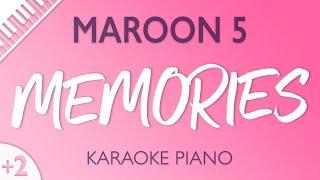 Maroon 5 - Memories (Karaoke Piano) Higher Key