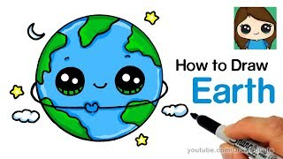 a cartoon earth drawing lesson