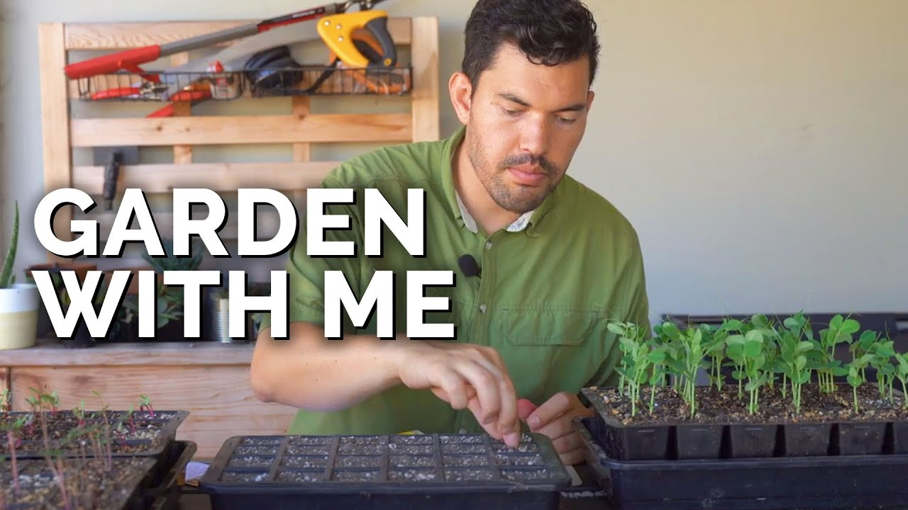 Garden With Me: Starting Seeds, Pruning, Composting