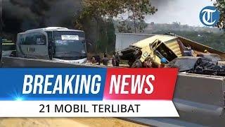 VIDEO Kecelakaan Tol Cipularang, Libatkan Truk hingga Mobil Pribadi Rusak Parah