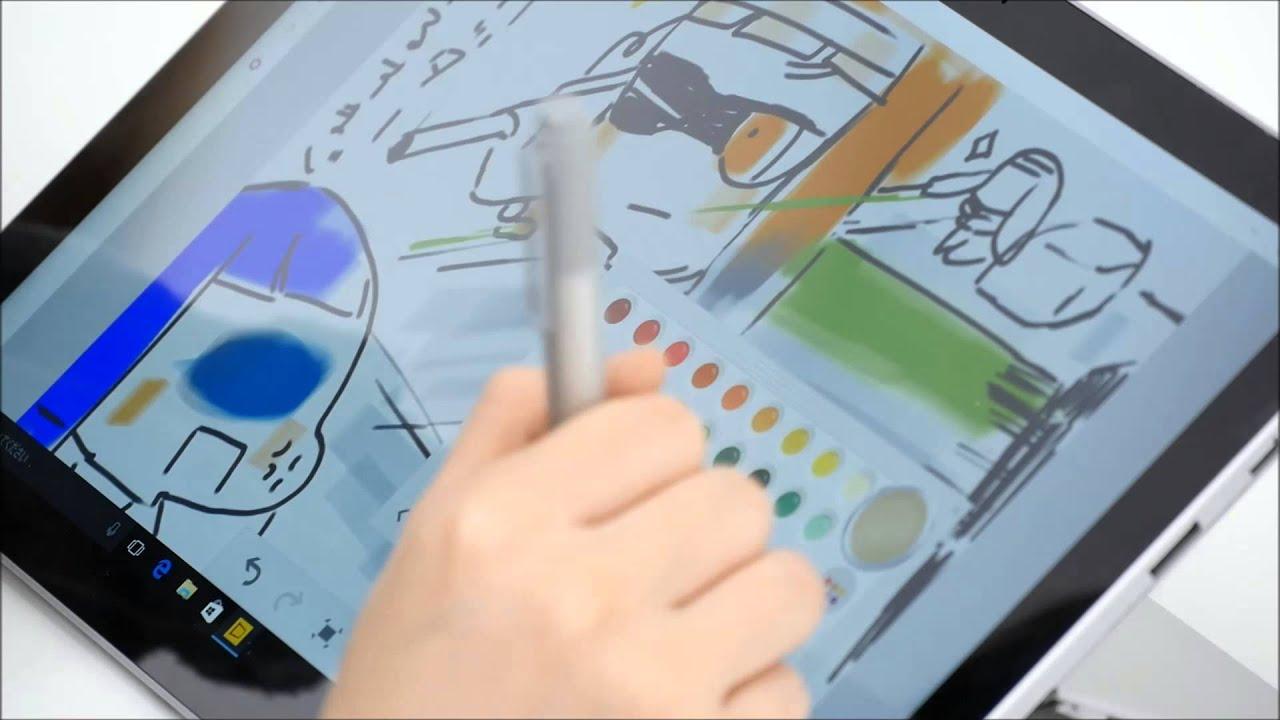 新型surfaceペンsurface Pro 4で描いたイラストに色を塗る Youtube