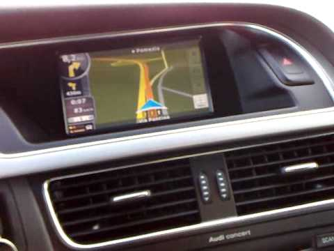 navi touch screen audi a5 youtube. Black Bedroom Furniture Sets. Home Design Ideas