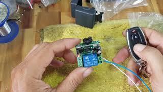 Mạch điều khiển từ xa rf 12V remote inox cao cấp 0907728870