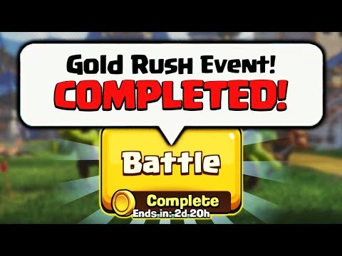 WHAT HAPPENS IF YOU COMPLETE THE GOLD RUSH EVENT IN CLASH ROYALE!!