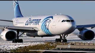 Take Off from Cairo EGYPTAIR AIRBUS A330- الإقلاع من مطار القاهرة