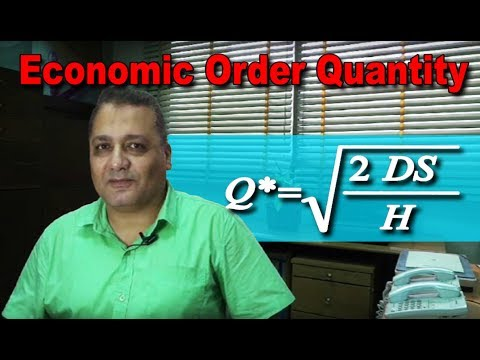 Economic order quantity - EOQ
