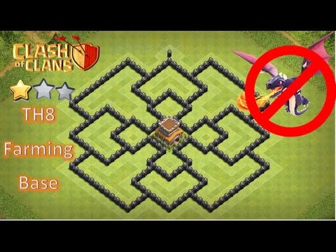 TH8 Farming Base|Hybrid 2017 Anti 3 Star|