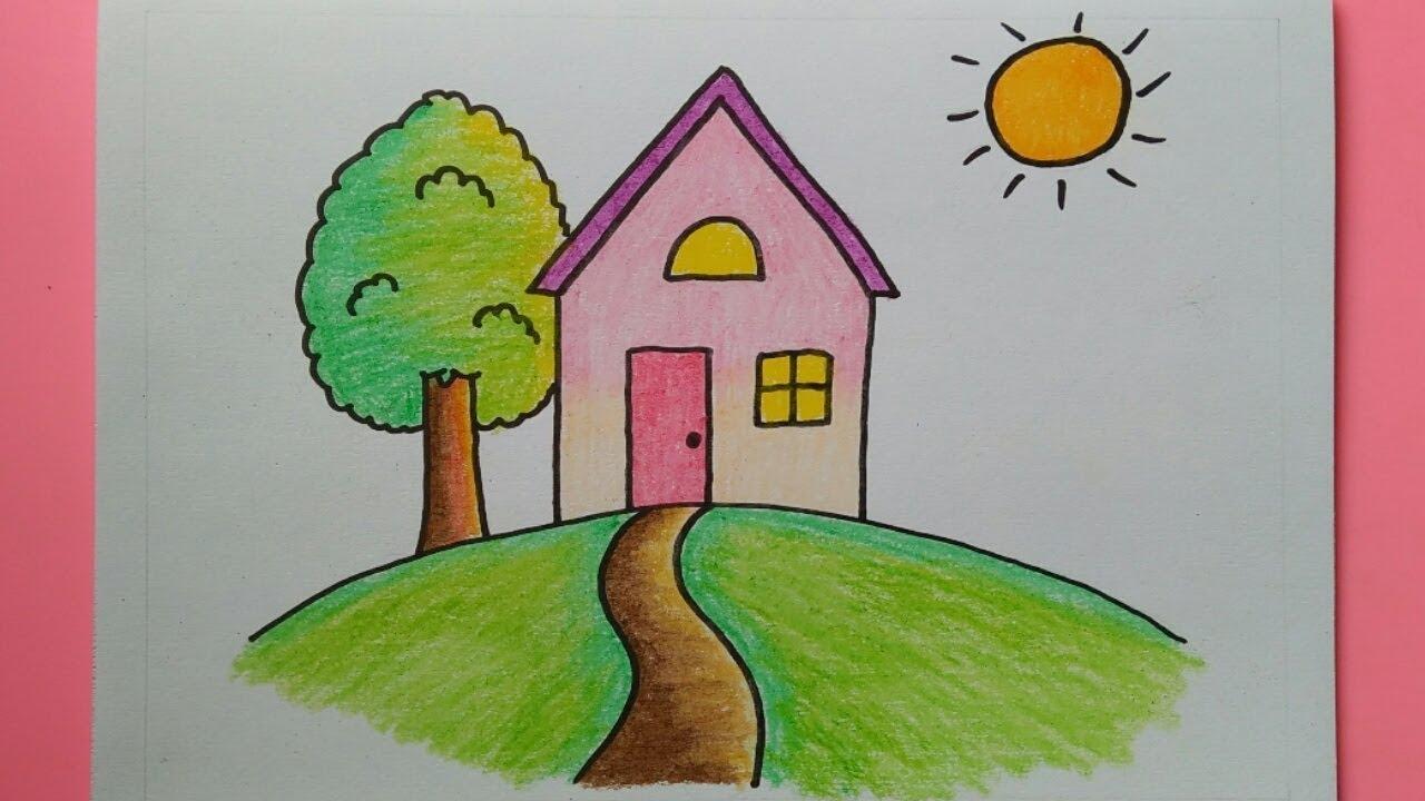 Cara Menggambar Rumah Untuk Anak TK Dan SD