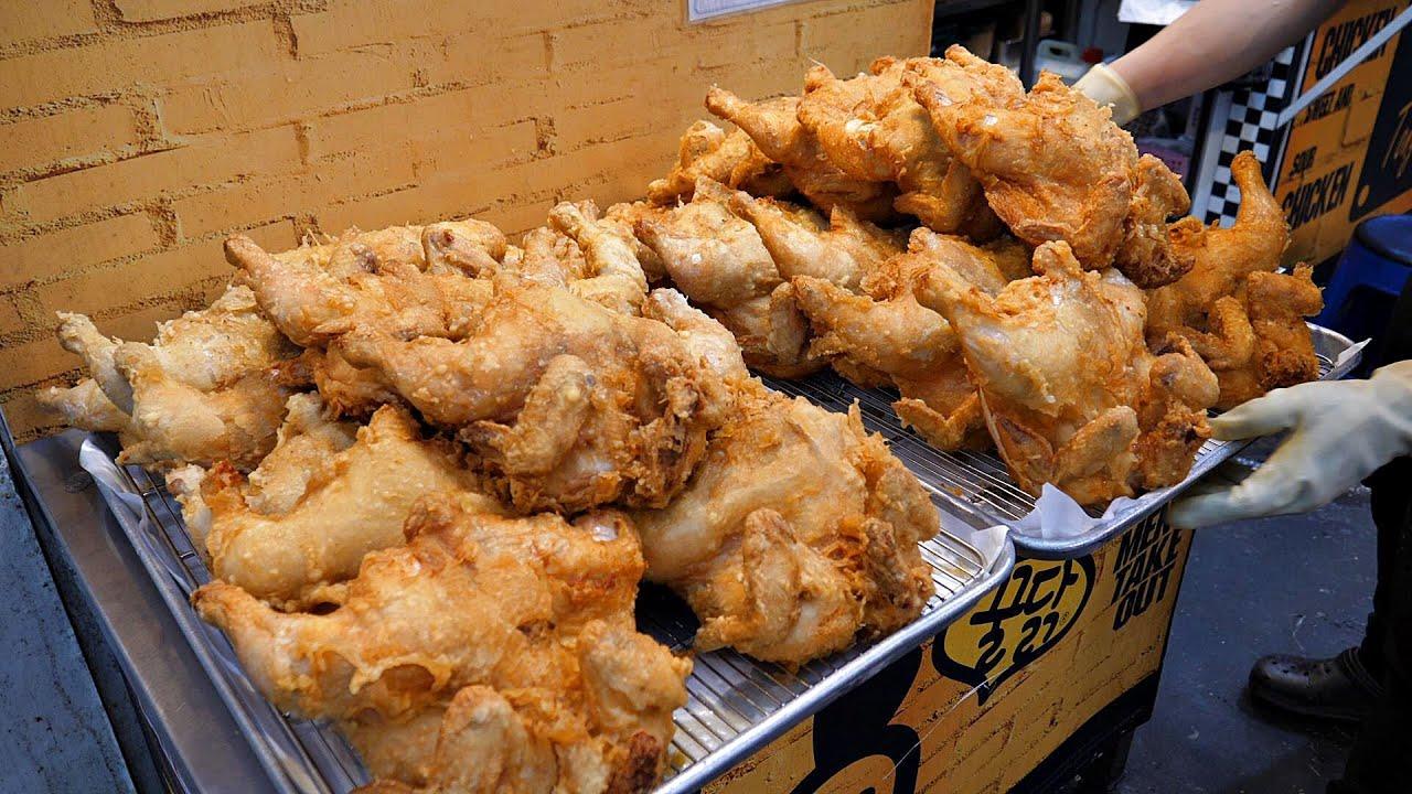 바삭함의 끝판왕! 하루 500마리 팔리는? 5500원 대왕 옛날통닭, 닭강정 / Korean original fried chicken / Korean street food
