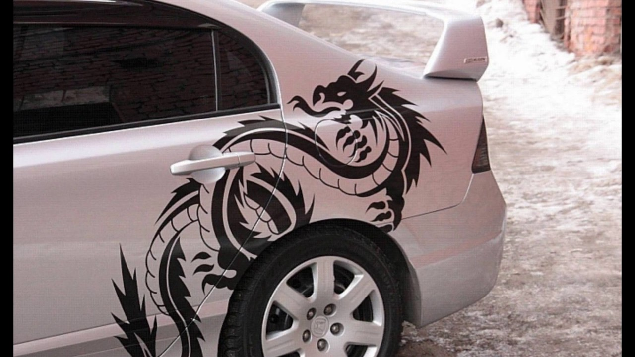 Виниловые картинки на авто