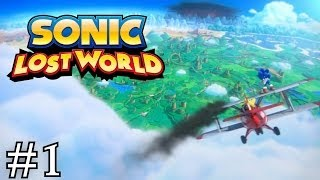 Sonic Lost World : [Wii U] 100% Walkthrough Part 1 - Opening / Windy Hill Zone