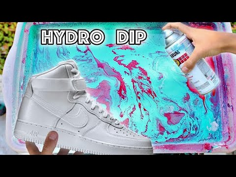 HYDRO Dipping AIR Force 1's!! - 2
