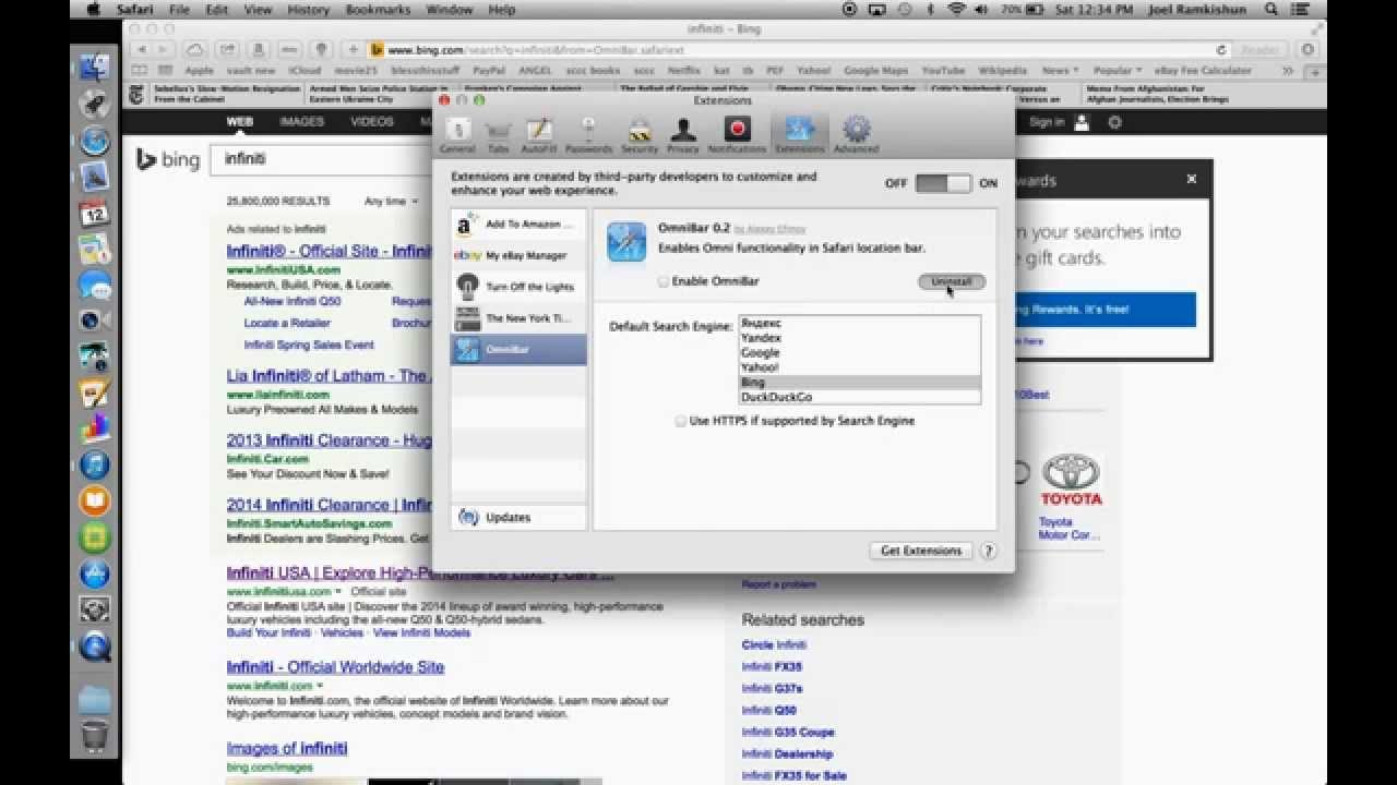 How To Get Rid Of Searchbar Redirect In Safari