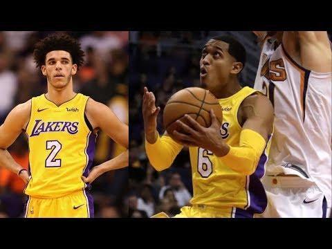 LiAngelo Ball Update! Jordan Clarkson 25 Points in 26 Mins! Lakers vs Suns 2017-18 Season