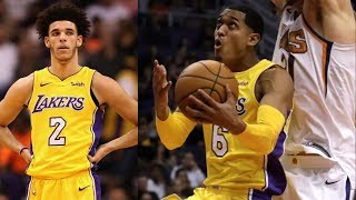 LiAngelo Ball Update! Jordan Clarkson 25 Points in 26 Mins! Lakers vs Suns 2017-18 Season