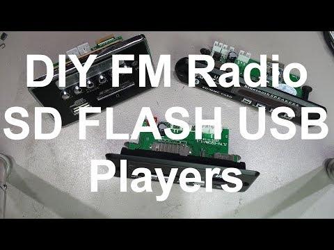 DIY FM Radio Bluetooth SD FLASH USB Mp3 Players