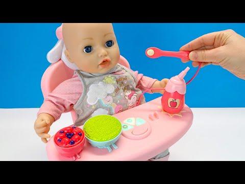 Мультики для детей Умный Стульчик Беби Анабель Как Мама Кормила Куклу Кашей 108мама тв