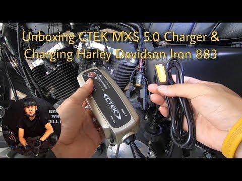 Charging Harley-Davidson Iron 883 By CTEK 5 MXS  | ชาร์จฮาเลย์-เดวิดสัน Iron 883 ด้วย CTEK 5 MXS