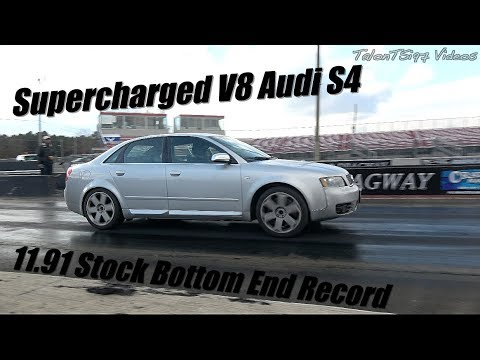 JHM Blown V8 Audi S4 Goes 11.91 Stock Bottom End