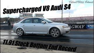 JHM Blown V8 Audi S4 Goes 11.91 Stock Bottom End