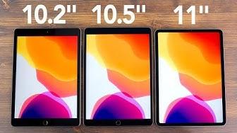 "iPad 2019 10.2"" vs iPad Air 10.5"" vs iPad Pro 11"" (Deutsch)"