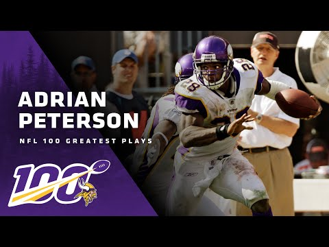 Adrian Peterson Stiff Arms His Way Through Browns Defense For Touchdown | NFL 100 Greatest Plays