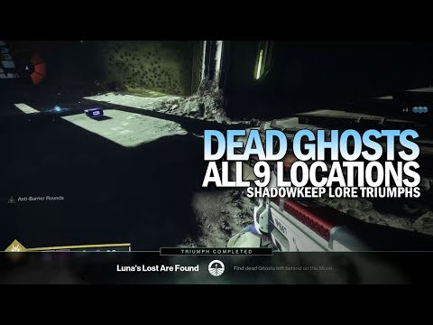 All 9 Dead Ghost Locations w/ Individual Timestamps [Destiny 2 Shadowkeep]