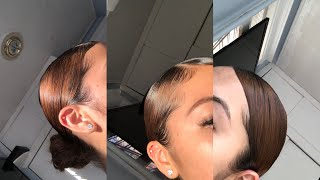 Low Slick Bun+ Edges (Short Hair)