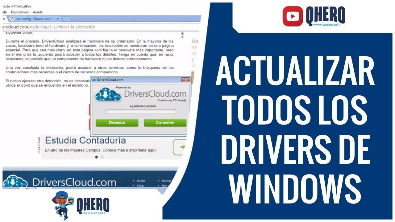 Actualizar driver o controladores sin Programas windows 10/8/7