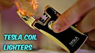 Tesla Coil Lighters - http://amzn.to/2jobmyQ DISCLAIMER: In this vi...
