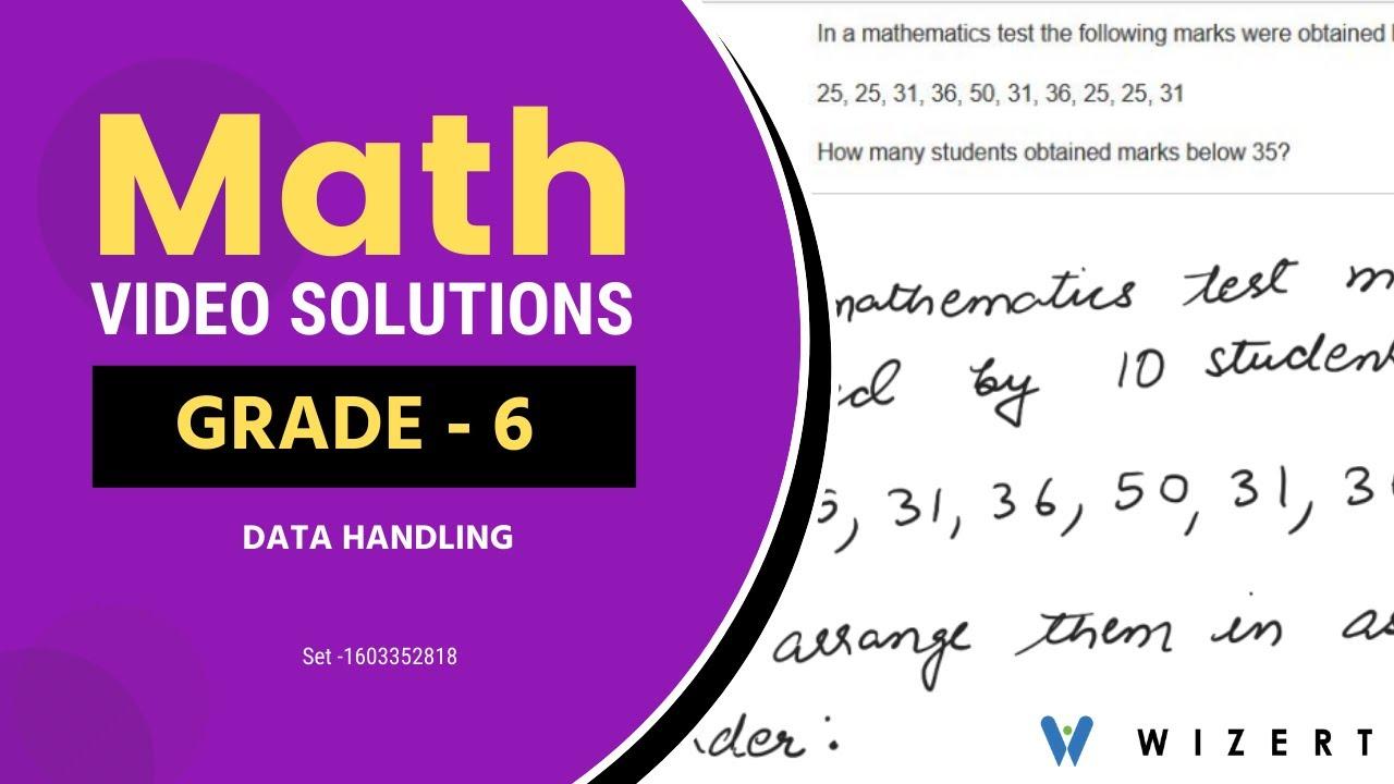 small resolution of Maths Tests for Grade 6 - Grade 6 Math Data Handling worksheets - Set  1603352818 - YouTube