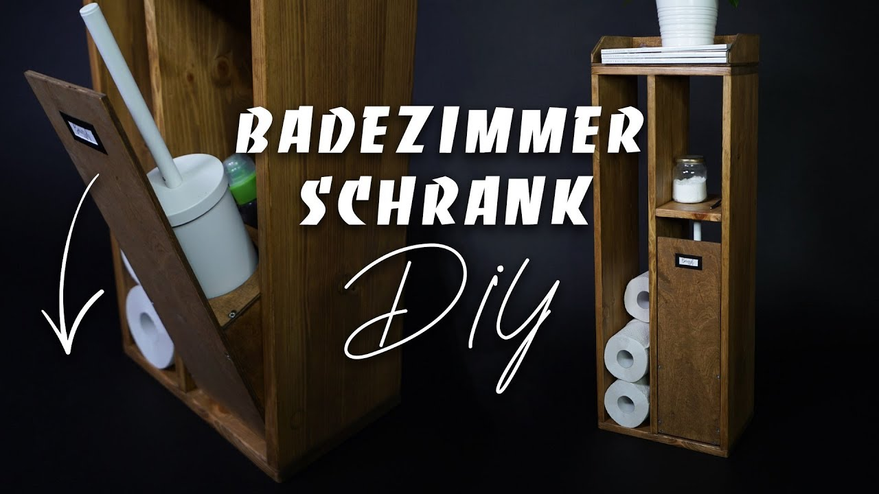 Badezimmer Schrank Upcycling Order In Bathroom Diy Shelf For Toilet Paper And Co Easy Alex