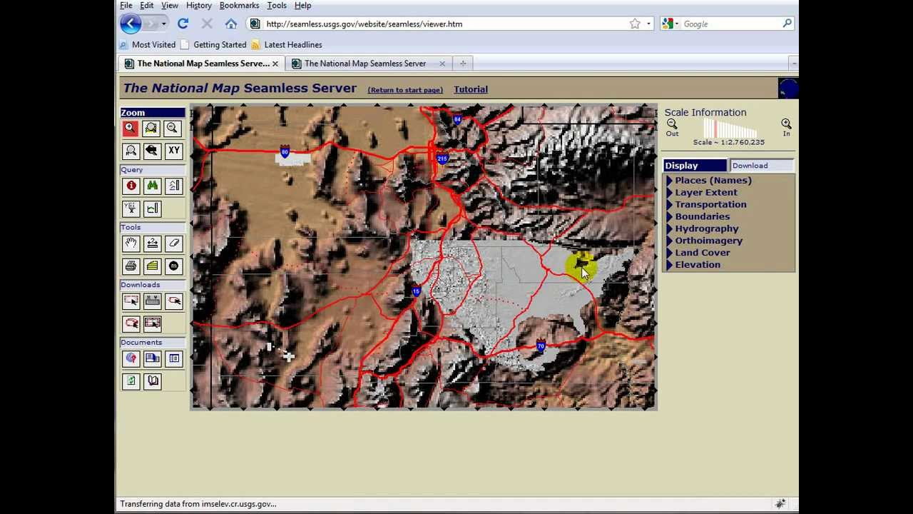 USGS DEM Terrains YouTube - Download dem data usgs