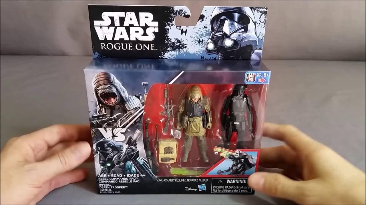 "STAR WARS ROGUE ONE 3.75/"" Rebel Commando PAO VS IMPERIAL Death Trooper Figure"