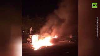 'Chaos utter chaos' | Protesters burn abandoned Minneapolis precinct