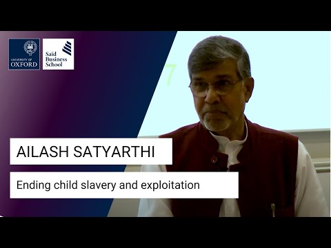 Kailash Satyarthi: Ending child slavery and exploitation